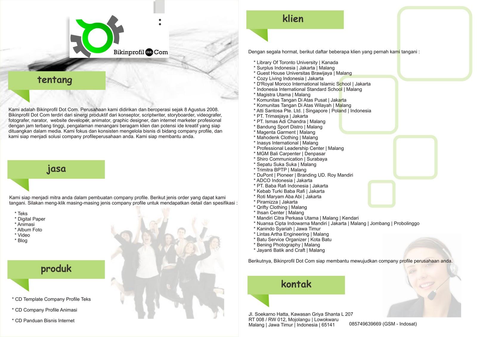 Apakah anda membutuhkan desain company profile? Tentu saja kami siap ...